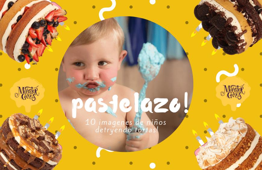 ¡Fotos divertidas de niños y tortas!